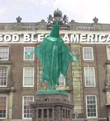 We love America door A. Auer, een voorstel voor kunstproject De Dienst