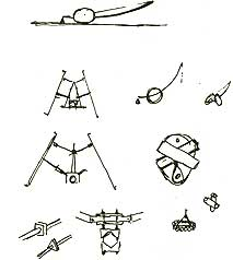 Gerrit van Bakel: schetsen voor de 'Middelgrote Problemendrager'; 1984