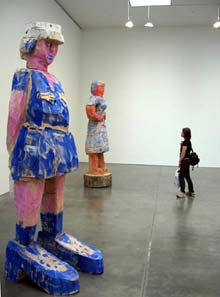 Georg Baselitz: 'Donna via Venezia' (2004) and 'Mondrian�s Sister' (1997) at Gagosian Gallery