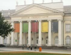 Marc Bijl: 'terror 3'; spraypaint on pillers of museum fridericianum Kassel; 2002 �