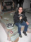 Marc Bijl in zijn atelier (foto Vpro R.A.M)