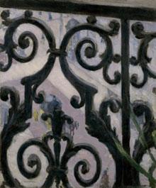 Gustave Caillebotte (1848-1894): 'Uitzicht vanaf een balkon'; 1880; olieverf op doek; 65.6 x 54.9 cm