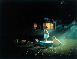 Gregory Crewdson: untitled (Pregnant woman/pool); 1999; digital C-print;