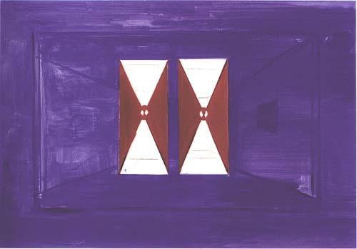 Ren頄ani묳: 'De donkere kamer', 1986, olieverf op doek, 130 x 190 cm.