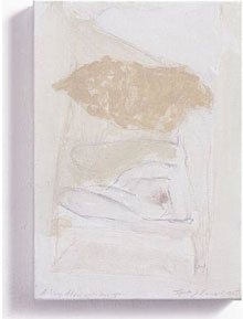 Tracey Emin: A Sleep Alone with legs open (2005, gouache, watercolour and pencil on canvas, 62.8 x 54.5 cm)