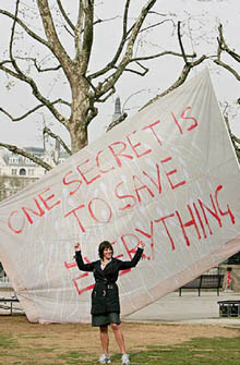 Tracey Emin en haar vlag