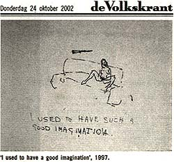 Tracey Emin: 'I used to have such a good imagination'; monoprint; 1997;