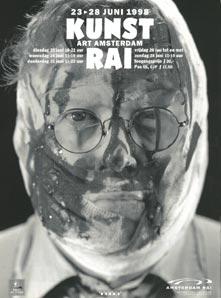 Rudi Fuchs op een affiche voor de KunstRai (1998)
