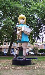 Damien Hirst: 'Miss Charity'; 2002; Hoxton Square, London