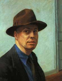 zelfportret van Edward Hopper; 1925-30; 25 1/16 x 20 3/8 inch