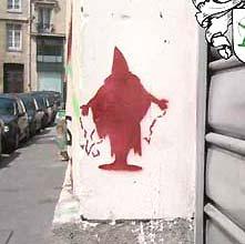 stencilkunst van Jeroen Jongeleen in Parijs