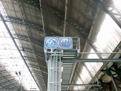 Hugo Kaagman: '2b or not 2b'; Centraal Station Amsterdam (foto: Hinke)