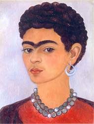 Frida Kahlo: 'Self Portrait with Curly Hair'; 1935; Oil on tin