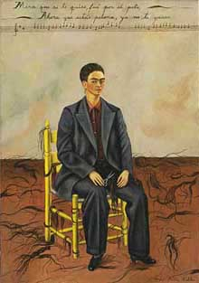 Frida Kahlo: Self-Portrait with Cropped Hair (1940)