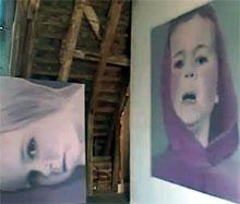 in het atelier van Kiki Lamers (still uit Vpro-documentaire, 2002)
