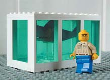 The Little Artists: 'Hirst's Shark Tank'in Lego;