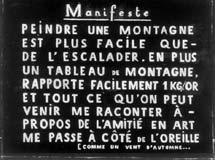 manifest van Thierry de Cordier, gebruikt als illustratie bij het artikel 'De reacties in Belgi�' door Robbert Roos