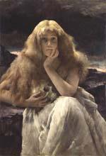 Alfred Stevens: 'Maria Magdalena; 1887; 111,8 x 77,3 cm; olieverf op doek