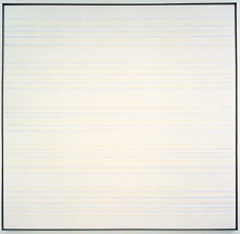 Agnes Martin: 'Untitled #14'; 1981; acrylic, gesso and pencil on canvas; 182.9 x 182.9 cm