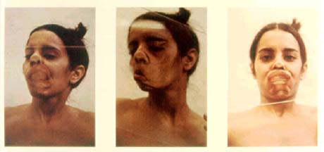 Ana Mendieta: 'Glass on Body'; 1972