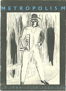 Metropolis M, nummer 2, jaargang 1984; op de cover Rene Daniels' schilderij Appolinaire (1983)
