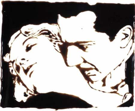 Vik Muniz: 'Bela Lugosi';1999; 121.9 x 148.6 cm; C-print