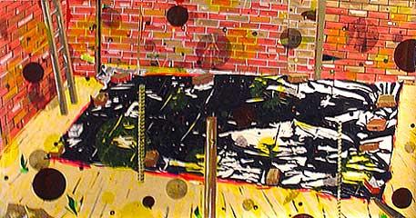 Thomas Raat: 'Sheeting'; 2004,-; 150 x 287 cm