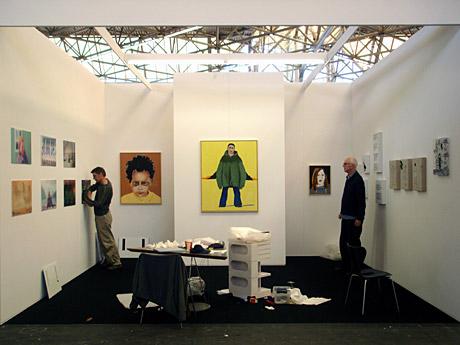 Art A'dam in opbouw - Wetering Galerie met Thomas Elshuis, Ad Gerritsen en Hinke