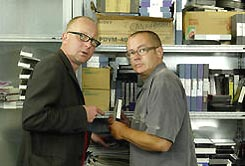 Pieter Bouwman en George van Houts, de presentatoren van R.A.M