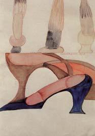 Carol Rama: 'Opera n.47'; 1940; aquarel op karton; 34,5 x 24 cm