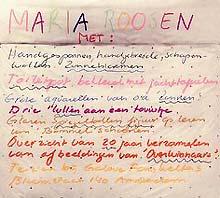 uitnodiging tentoonstelling 'Met' van Maria Roosen in galerie Fons Welters (detail)