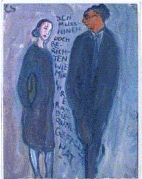 'Ich muss Ihnen doch berichten wie mir ihren Radierung gefallen hat' - Charlotte Salomon; gouache; 1940-1942