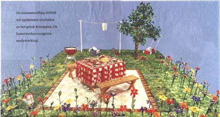 Liza Lou: 'Back yard'; 1995-1997
