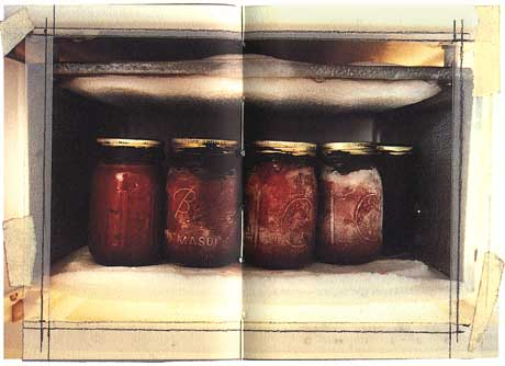 Kiki Smith: 'Jars' (1986 / glass, silicon and blood)