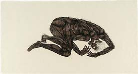 Kiki Smith: Sue�o; 1992; ets; 104,5 x 194,8 cm
