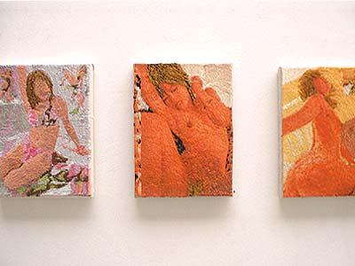Werk van Berend Strik in galerie Fons Welters, februari 2003