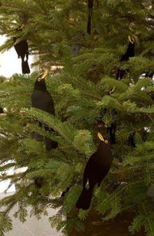 de kerstboom van Gary Hume voor Tate Britain (detail)