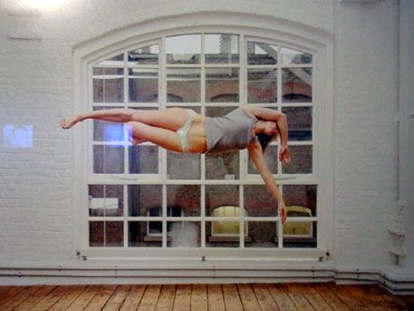 Sam Taylor-Wood: 'Self Portrait Suspended VII' (2004)
