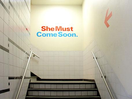 in het trappenhuis van SMCS (foto: hinke | suds and soda)