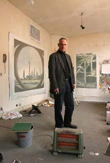Luc Tuymans in seinem Antwerpener Atelier (Foto: Vincent van den Hooven)