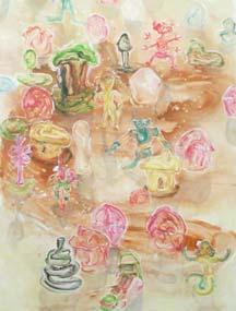 Sander van Deurzen: Fast Food Toys; 2003;  acryl en olieverf op doek; 200 x 150 cm
