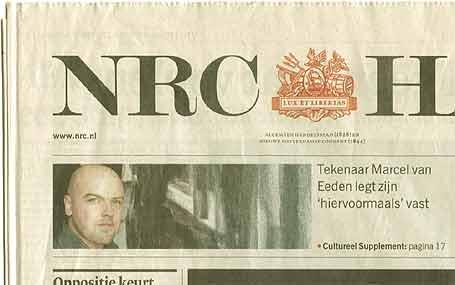Uit het grote Marcel van Eeden mediaoffensief: Keerpunt 1965 (NRC Handelsblad)