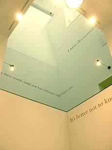 Teksten van Douglas Gordon in het Van Abbemuseum