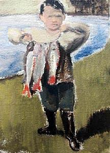 Johannes van Vugt; 2005; olieverf op doek; 18 x 13 cm