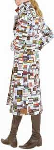Silke Wawro: 'Coat 759.987,20 Euro', gemaakt uit etiketten van merkkleding; 2003