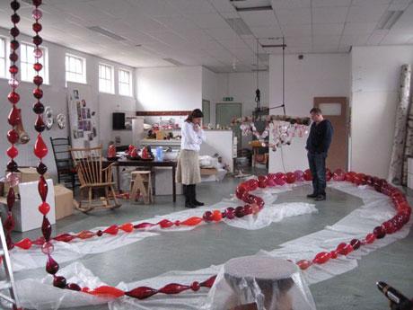Maria Roosen in atelier - foto Liedeke Kruk