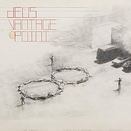 Michaël Borremans' tekening op Deus' cd