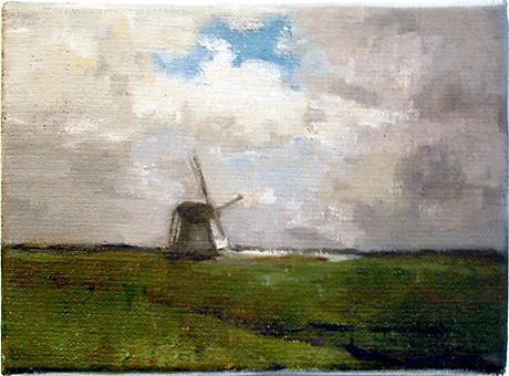 Johannes van Vugt, Tegenwind, 13 x 18 cm